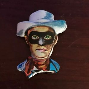 Other - 1950's LONE RANGER Tin Litho Pin